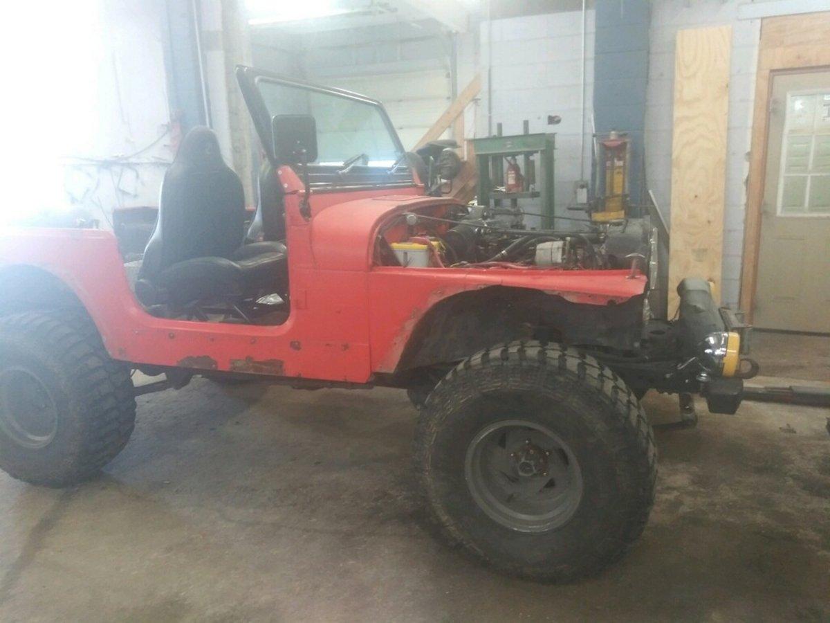 1977 Jeep cj7 overhauled 08 1
